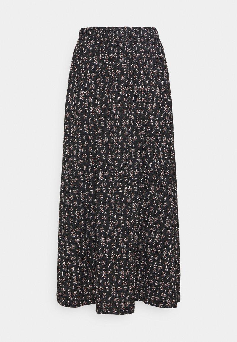 ONLY - ONLZILLE NAYA SKIRT - Maxi skirt - black/lavender