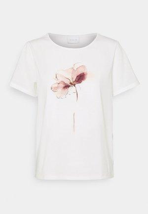 VILINNEA FLOWER - T-shirts med print - cloud dancer