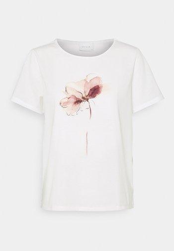 VILINNEA FLOWER - T-shirt con stampa - cloud dancer