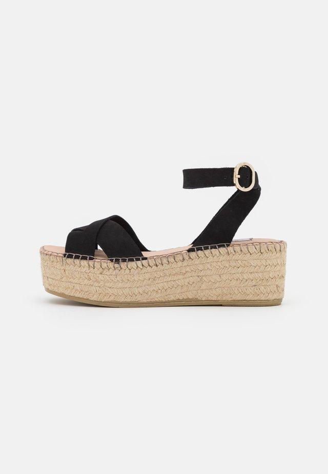 PRAIDY - Platform sandals - black