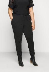 Kaffe Curve - SINE PANTS - Kalhoty - black deep - 0