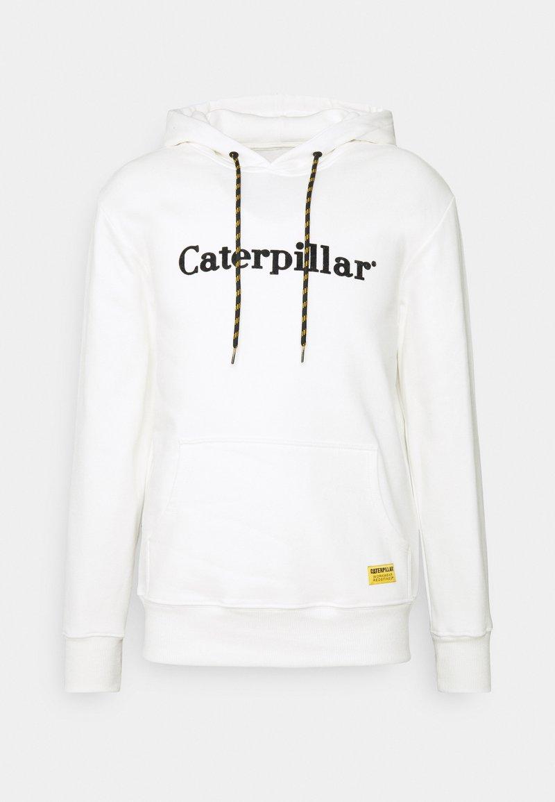 Caterpillar - EMBROIDERY HOODIE - Luvtröja - cream