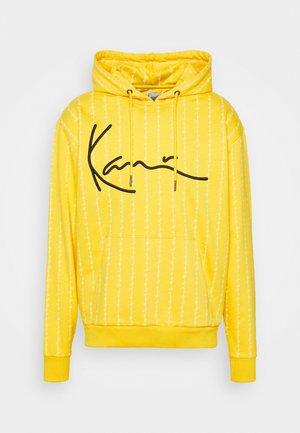 SIGNATURE LOGO PINSTRIPE HOODIE UNISEX - Zip-up sweatshirt - yellow