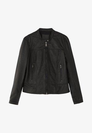 MIT STRUKTUR - Veste en cuir - black