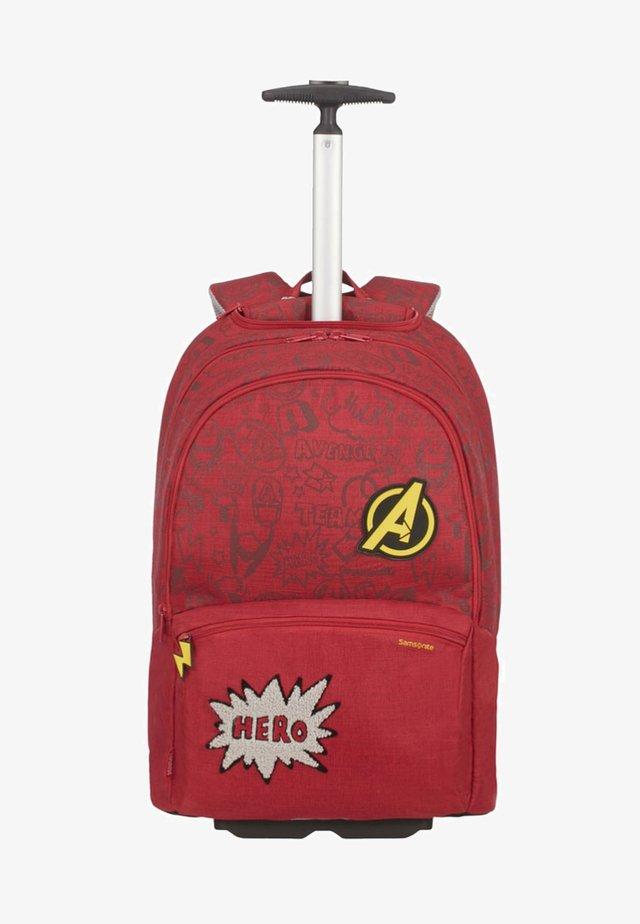 Wheeled suitcase - avengers doodles