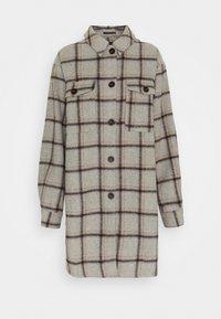 Selected Femme Tall - SLFVANESSA LONG JACKET - Summer jacket - grey/black/yellow - 0
