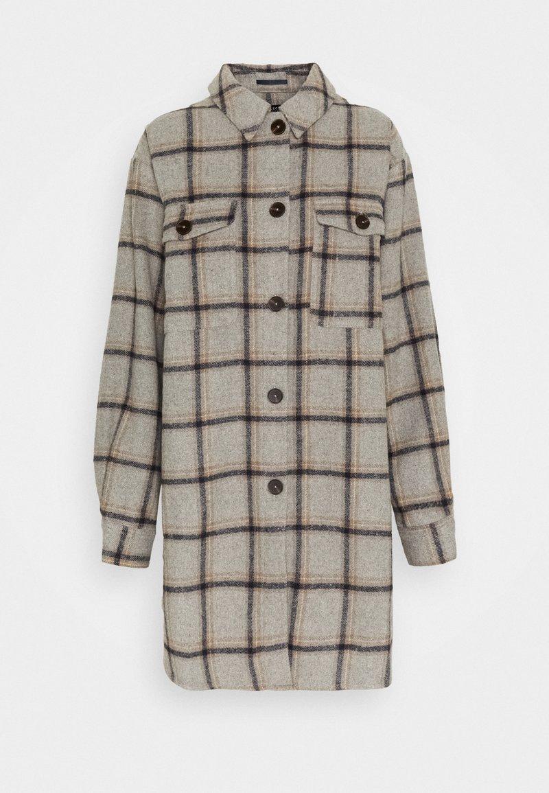 Selected Femme Tall - SLFVANESSA LONG JACKET - Summer jacket - grey/black/yellow