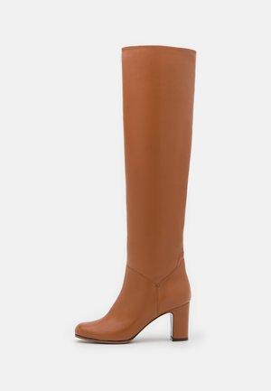 BOOT NO ZIP - Over-the-knee boots - mid brown