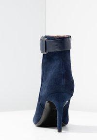 Calvin Klein - GITAR - High heeled ankle boots - dark navy - 5