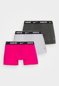 Nike Underwear - DAY STRETCH TRUNK 3 PACK - Culotte - fireberry/anthracite/wolf grey - 0
