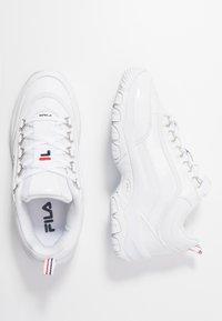 Fila - STRADA - Sneakersy niskie - white - 3