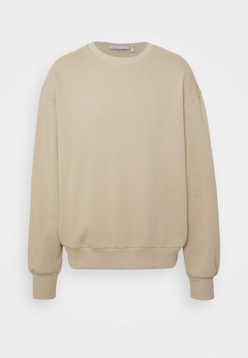 NU-IN - BASIC LOOSE FIT - Sweatshirt - beige