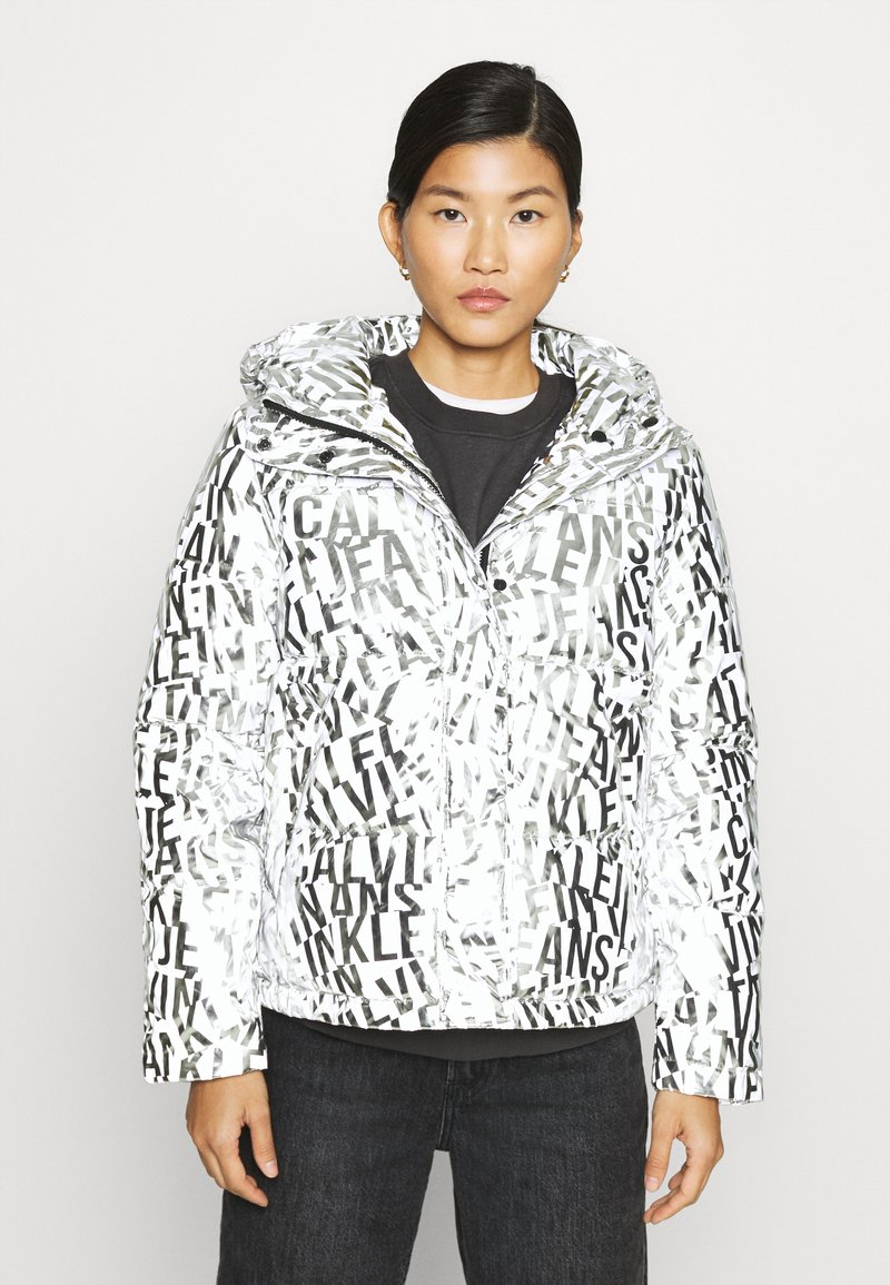 Calvin Klein Jeans - LOGO PUFFER - Winter jacket - silver