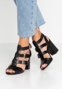 New Look - PENG - Sandály na vysokém podpatku - black - 0