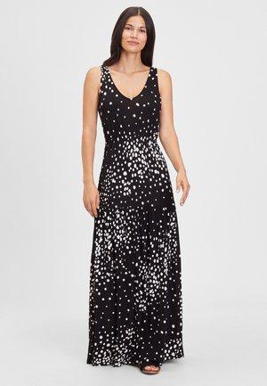 Maxi dress - schwarz-weiß-bedruckt