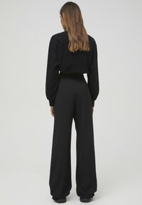 PULL&BEAR - Trousers - mottled black
