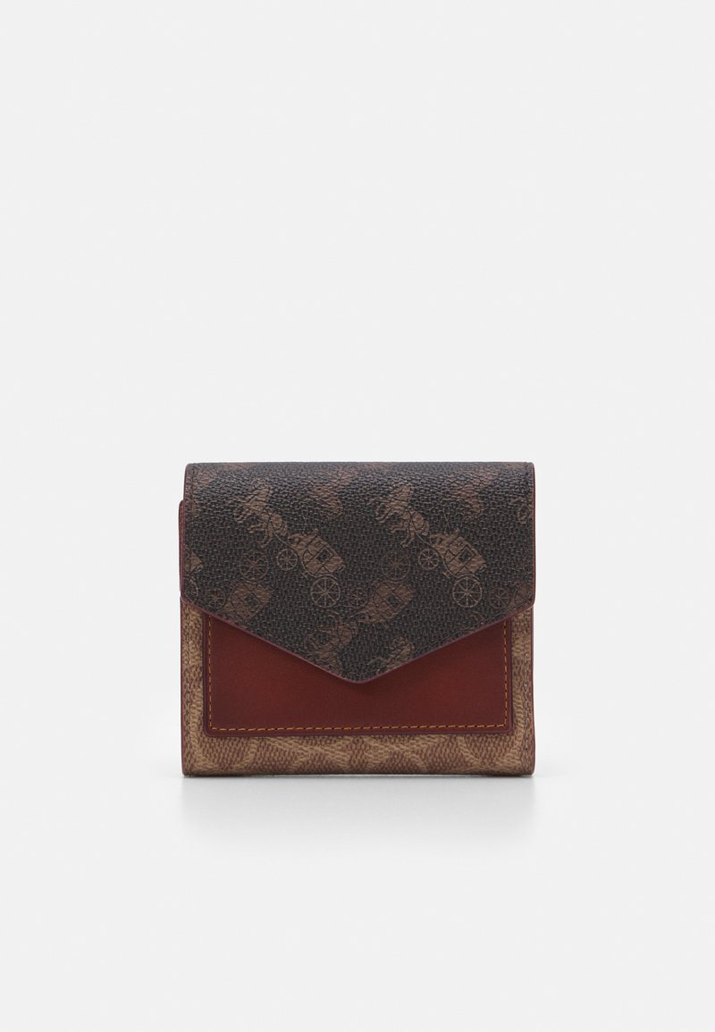 Coach - SIGNATURE CARRIAGE SMALL WALLET - Wallet - tan/brown/rust