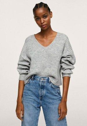 Pullover - gris chiné clair