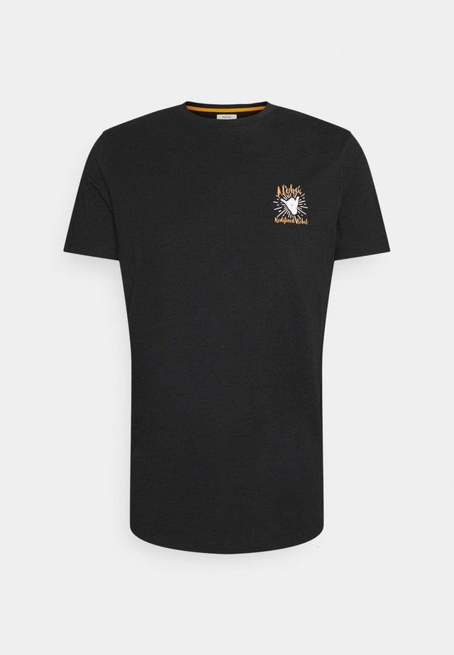 RYDER TEE UNISEX - T-shirt med print - black