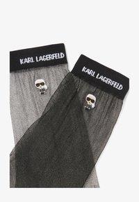 KARL LAGERFELD - 2 PACK - Socks - black silver - 1