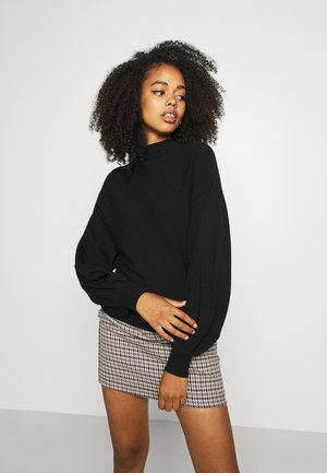 VMNANCY BALLOON FUNNECK - Strickpullover - black
