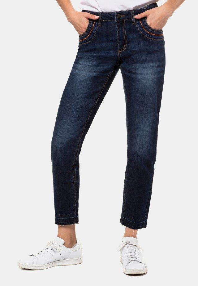 JULIA  - Slim fit jeans - blue denim