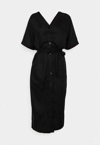 DRESS BORNHOLM - Shirt dress - black