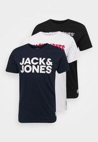 JOR30HISTORY TEE CREW NECK 3 PACK - T-shirt imprimé - navy blazer/black/white