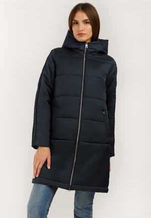 MIT KUSCHELIGER KAPUZE - Winter coat - dark blue
