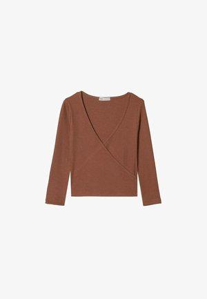 Long sleeved top - mottled brown