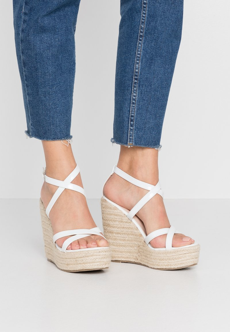 BEBO - FARRAH - Sandaler med høye hæler - white