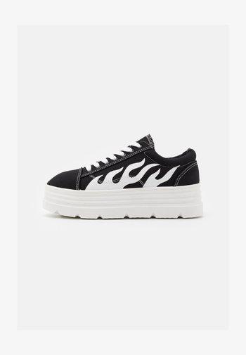 VEGAN - Sneakers basse - black/white