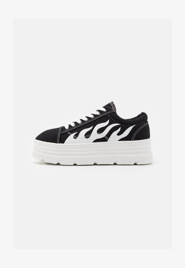 VEGAN - Sneakers - black/white