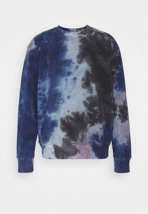 TIE DYE CREW - Sweatshirt - blue