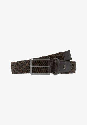 STYLE  - Braided belt - dark brown
