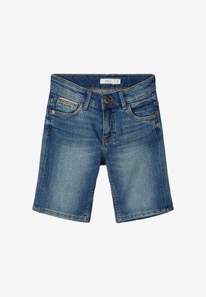 SLIM FIT - Jeansshort - medium blue denim