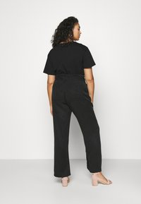 CAPSULE by Simply Be - SOFT WIDE LEG PANT - Trousers - washed black - 2