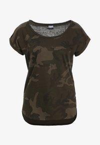 Urban Classics - CAMO  - Print T-shirt - olive - 5
