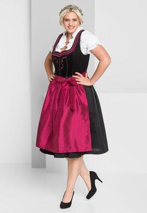 Dirndl - schwarz-rot