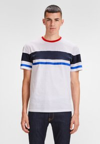 Jack & Jones - SCHLICHTES REGULAR - T-shirt z nadrukiem - white - 0