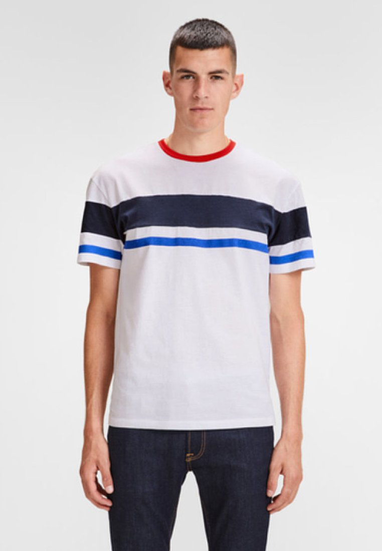 Jack & Jones - SCHLICHTES REGULAR - T-shirt z nadrukiem - white