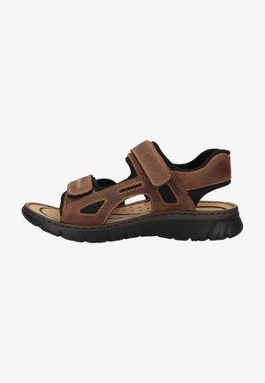 Walking sandals - tabak/schwarz