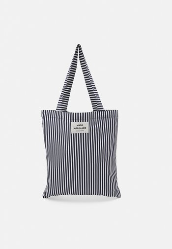 SACKY ATOMA - Tote bag - white alyssum/dark navy