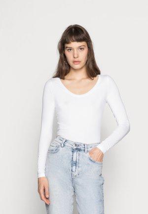 BASE - Long sleeved top - white