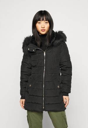 ONLCAMILLA QUILTED COAT - Winter coat - black