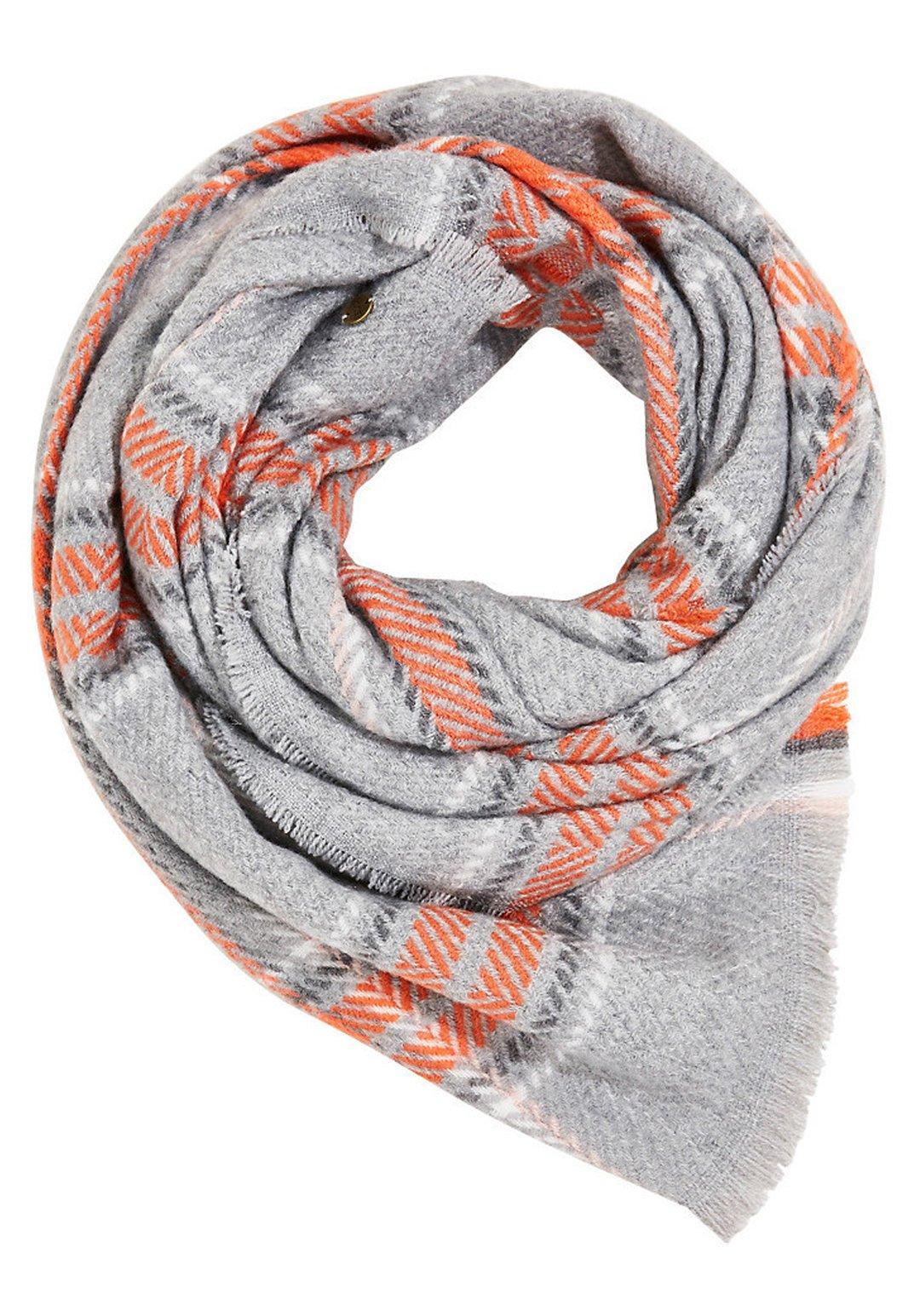 Edc By Esprit Mit Web-karo - Schal Medium Grey/grau