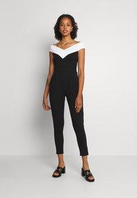WAL G. - JESSIE JAYNE CONTRAST - Jumpsuit - black/white - 0