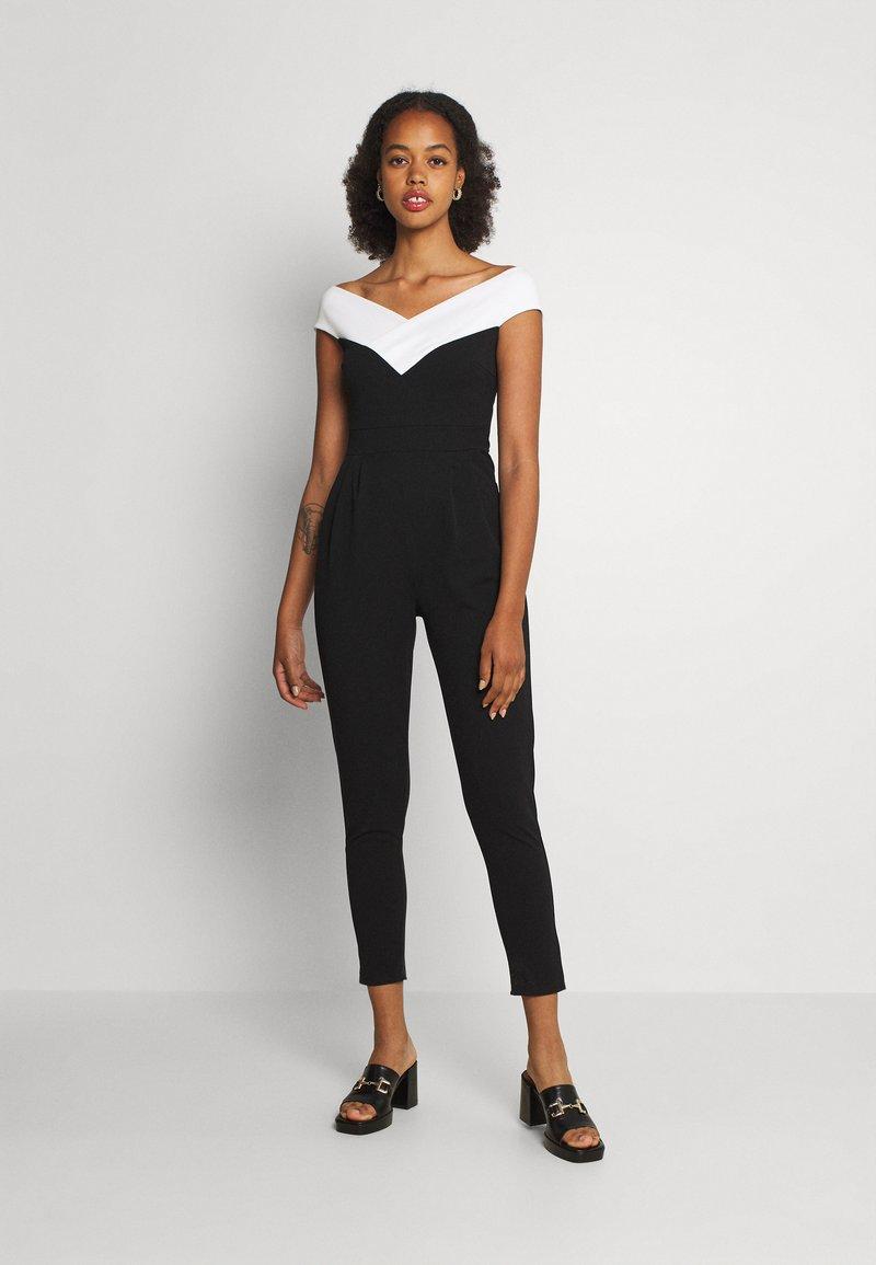 WAL G. - JESSIE JAYNE CONTRAST - Jumpsuit - black/white