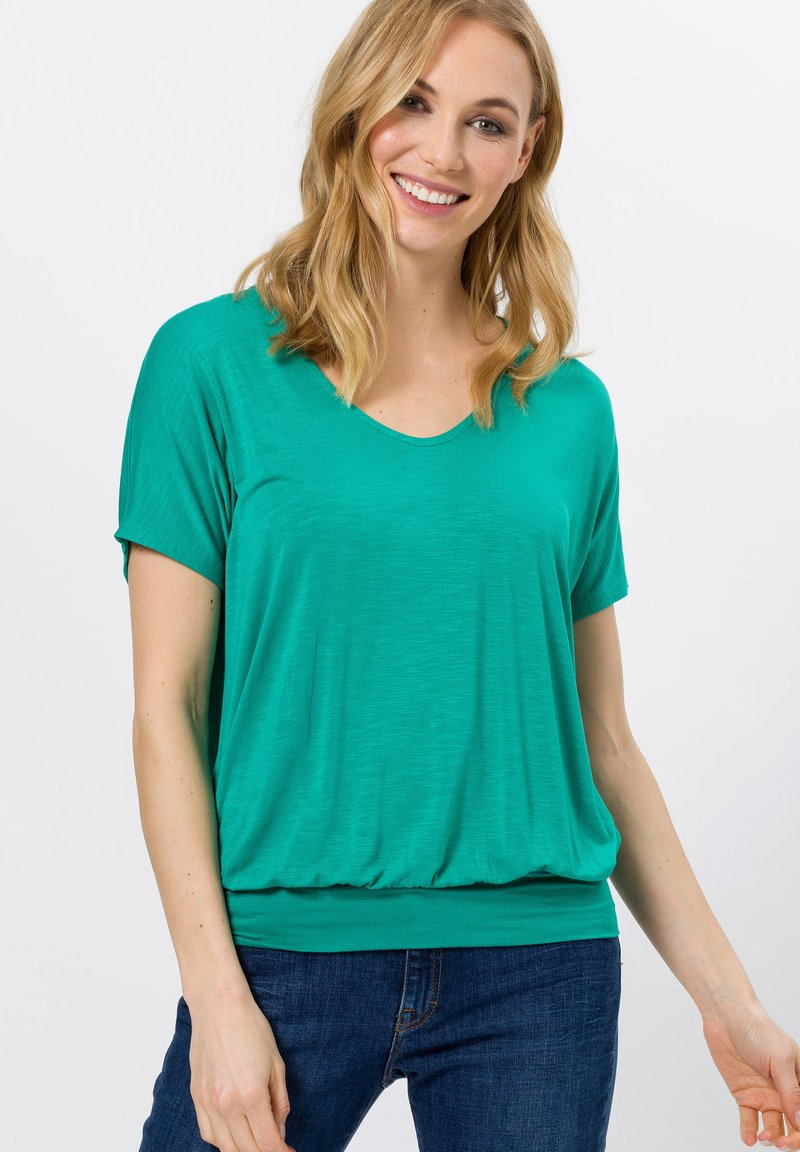 zero - Print T-shirt - emerald green