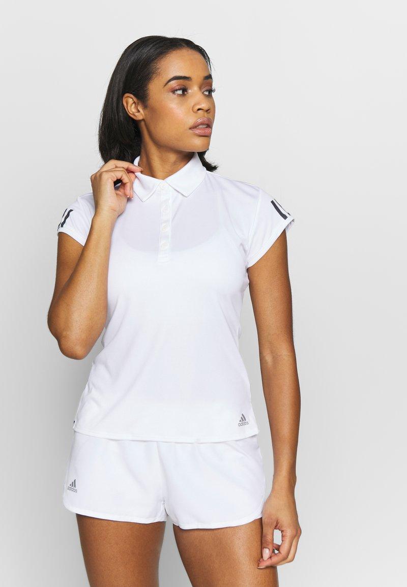 adidas Performance - CLUB - Sports shirt - white/silve/black